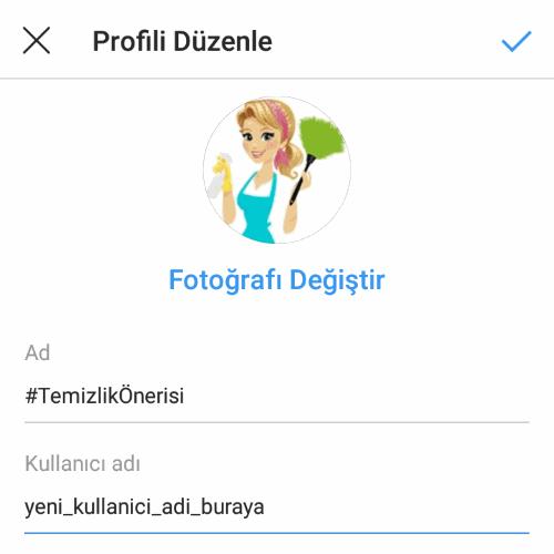 İnstagram isim değiştirme, yeni kullanıcı adı