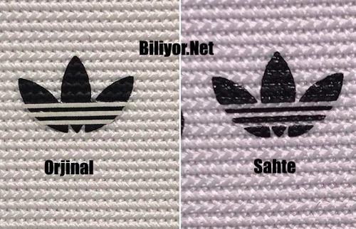 Orjinal adidas anlamanın yolları logo kontrolü