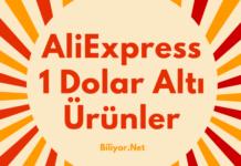 Aliexpress 1 dolar altı ürünler