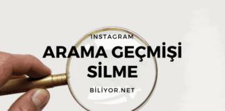 instagram arama geçmişi silme, temizleme