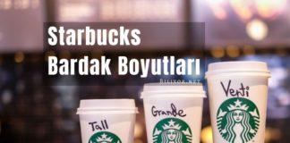 starbucks bardak boyutları ve isimleri