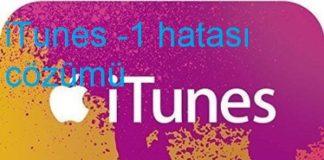 iTunes -1 hatası çözümü