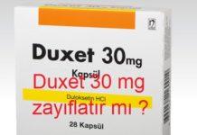 Duxet 30 mg zayıflatır mı