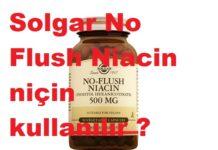 Solgar No Flush Niacin niçin kullanılır